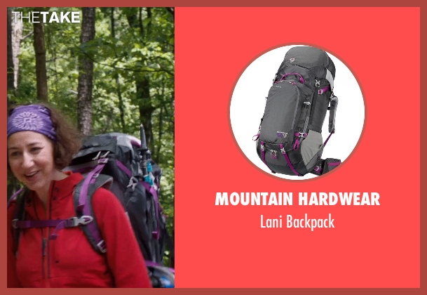 Mountain Hardwear black backpack from A Walk in the Woods seen with Kristen Schaal (Mary Ellen)