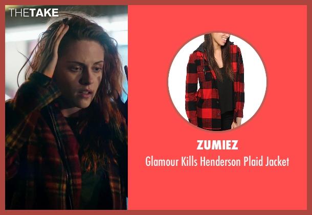 Zumiez red jacket from American Ultra seen with Kristen Stewart (Phoebe)