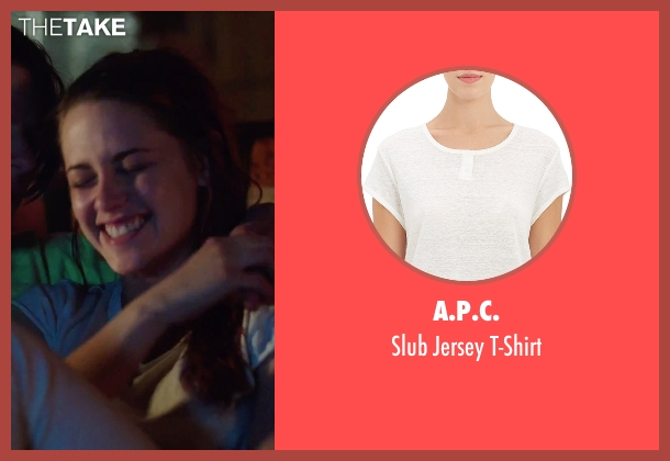 A.P.C. white t-shirt from American Ultra seen with Kristen Stewart (Phoebe)