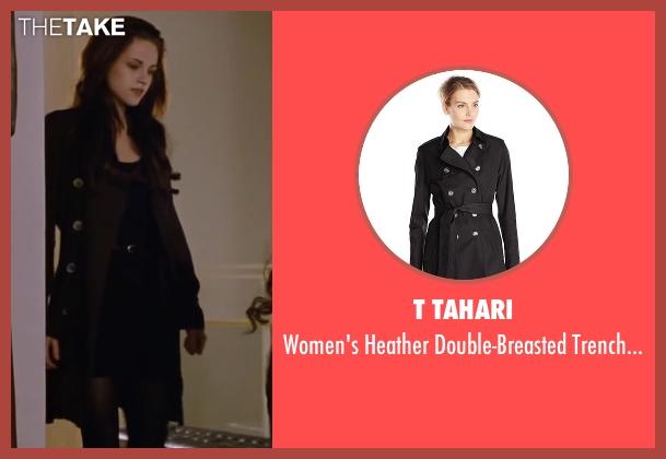 T Tahari black coat from The Twilight Saga: Breaking Dawn - Part 2 seen with Kristen Stewart (Bella Swan)