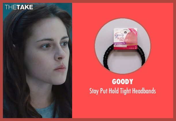 Goody black headbands from Twilight seen with Kristen Stewart (Bella Swan)