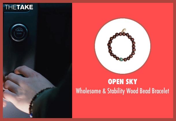 Open Sky brown bracelet from Twilight seen with Kristen Stewart (Bella Swan)