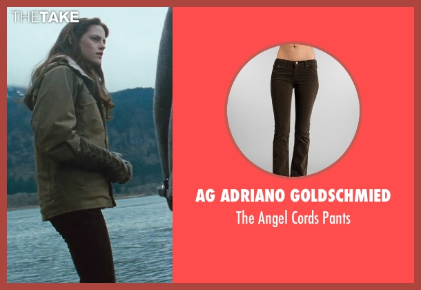 AG Adriano Goldschmied brown pants from Twilight seen with Kristen Stewart (Bella Swan)