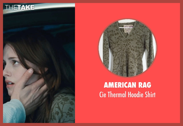 American Rag green shirt from Twilight seen with Kristen Stewart (Bella Swan)