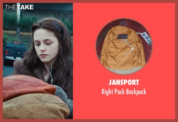Jansport orange backpack from Twilight seen with Kristen Stewart (Bella Swan)