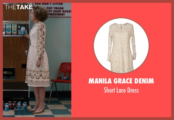 Manila Grace Denim beige dress from Anchorman 2: The Legend Continues seen with Kristen Wiig (Chani Lastnamé)