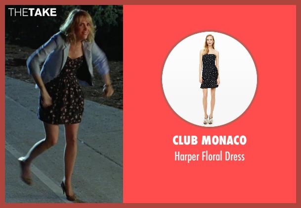 Club Monaco black dress from Bridesmaids seen with Kristen Wiig (Annie Walker)