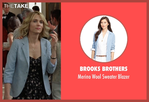 Brooks Brothers blue blazer from Bridesmaids seen with Kristen Wiig (Annie Walker)