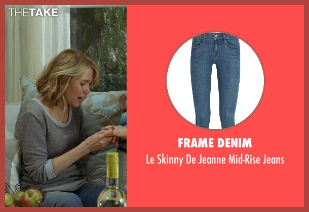 Frame Denim blue jeans from Bridesmaids seen with Kristen Wiig (Annie Walker)
