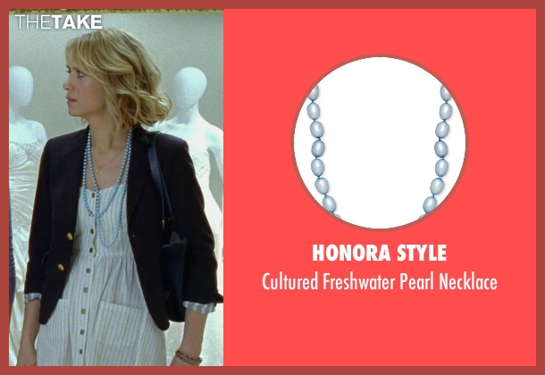 Honora Style blue necklace from Bridesmaids seen with Kristen Wiig (Annie Walker)