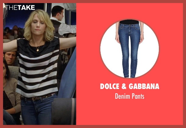 Dolce & Gabbana blue pants from Bridesmaids seen with Kristen Wiig (Annie Walker)