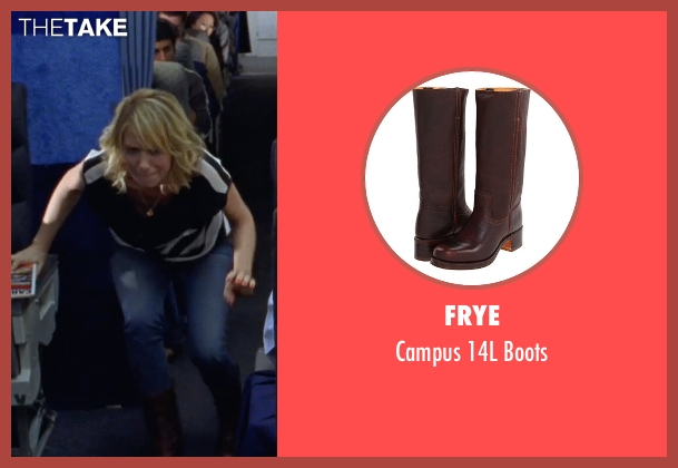 Frye brown boots from Bridesmaids seen with Kristen Wiig (Annie Walker)