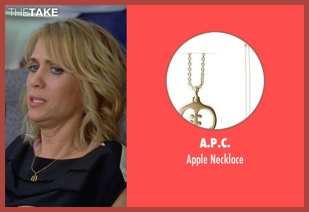 A.P.C. gold necklace from Bridesmaids seen with Kristen Wiig (Annie Walker)