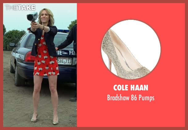 Cole Haan gold pumps from Bridesmaids seen with Kristen Wiig (Annie Walker)