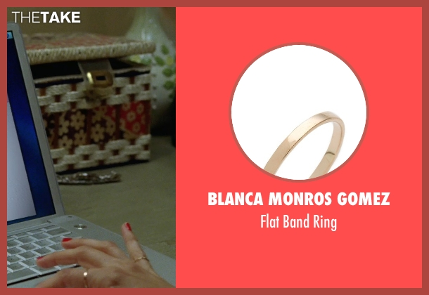 Blanca Monros Gomez gold ring from Bridesmaids seen with Kristen Wiig (Annie Walker)