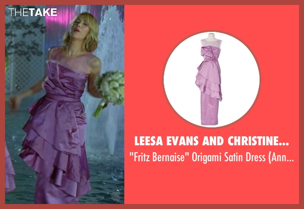 Leesa Evans and Christine Wada (Costume Designers) purple dress from Bridesmaids seen with Kristen Wiig (Annie Walker)