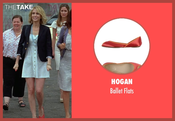Hogan red flats from Bridesmaids seen with Kristen Wiig (Annie Walker)