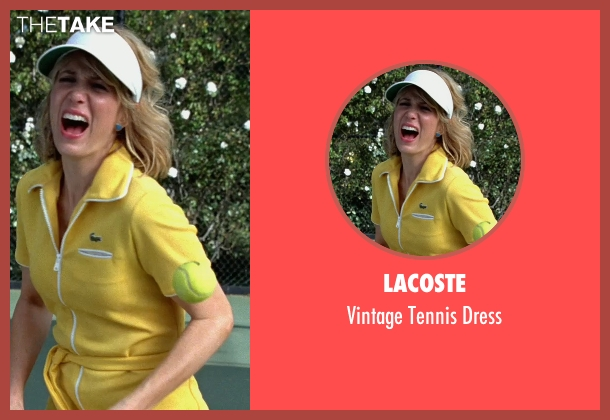 Lacoste yellow dress from Bridesmaids seen with Kristen Wiig (Annie Walker)