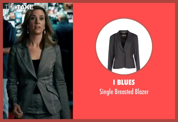 I Blues gray blazer from Knocked Up seen with Kristen Wiig (Jill)