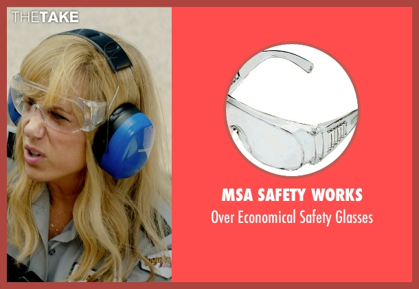 MSA Safety Works glasses from Masterminds seen with Kristen Wiig (Kelly)
