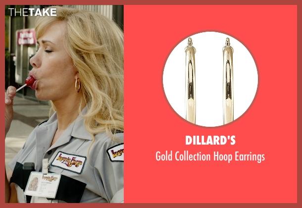 Dillard's gold earrings from Masterminds seen with Kristen Wiig (Kelly)