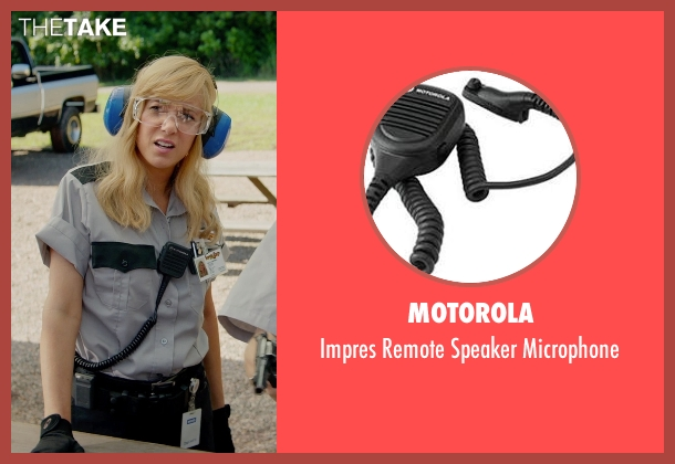 Motorola microphone from Masterminds seen with Kristen Wiig (Kelly)
