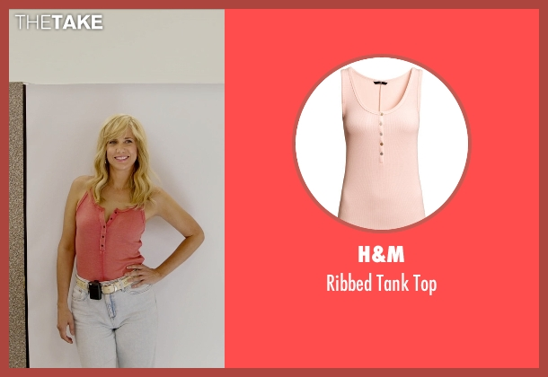 H&M pink top from Masterminds seen with Kristen Wiig (Kelly)
