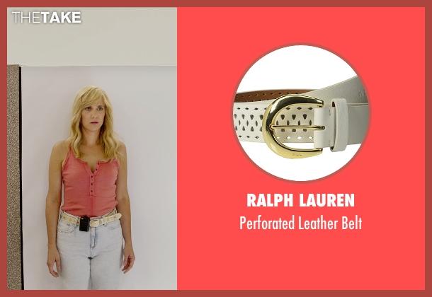 Ralph Lauren white belt from Masterminds seen with Kristen Wiig (Kelly)