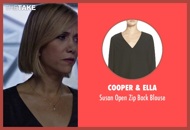 Cooper & Ella black blouse from The Martian seen with Kristen Wiig (Annie Montrose)