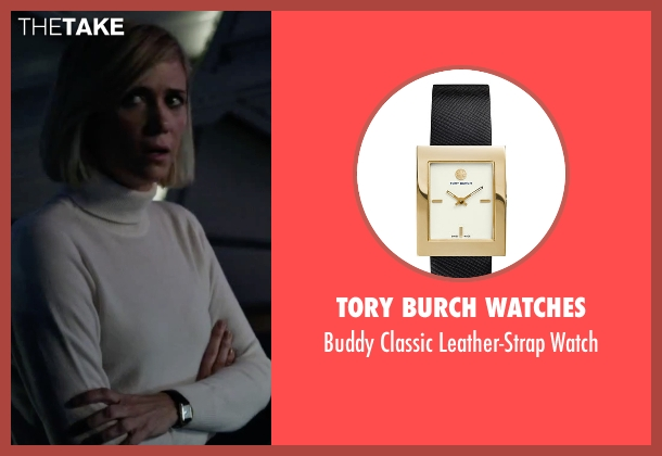 Tory Burch Watches black watch from The Martian seen with Kristen Wiig (Annie Montrose)