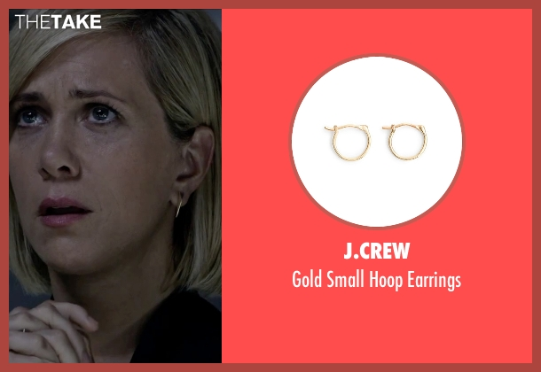J.Crew gold earrings from The Martian seen with Kristen Wiig (Annie Montrose)