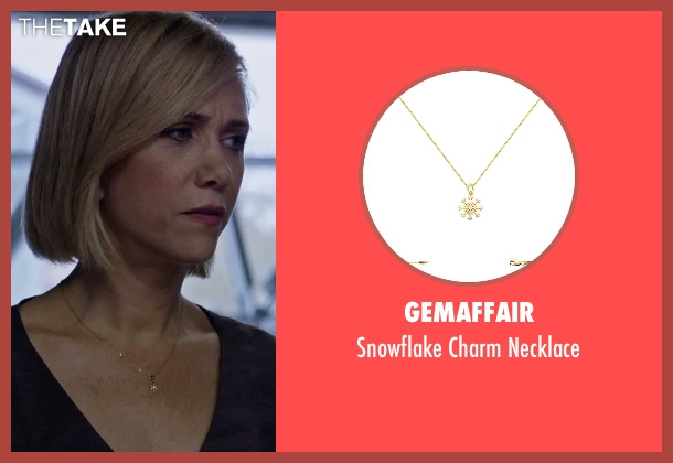 Gemaffair gold necklace from The Martian seen with Kristen Wiig (Annie Montrose)