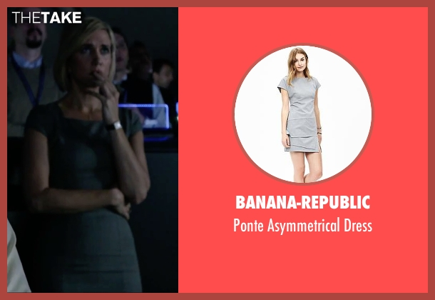 Banana-Republic gray dress from The Martian seen with Kristen Wiig (Annie Montrose)