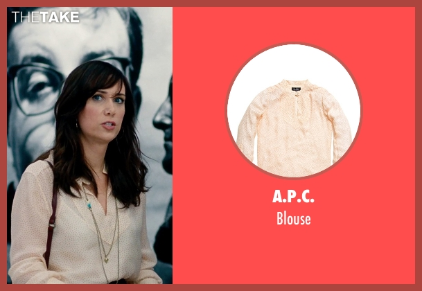 A.P.C. beige blouse from The Secret Life of Walter Mitty seen with Kristen Wiig (Cheryl Melhoff)