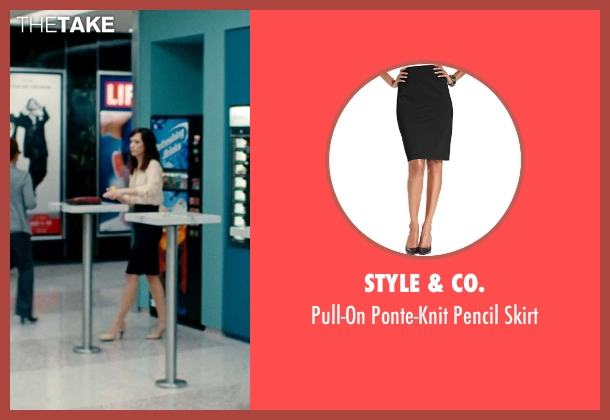Style & Co. black skirt from The Secret Life of Walter Mitty seen with Kristen Wiig (Cheryl Melhoff)