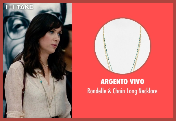 Argento Vivo blue necklace from The Secret Life of Walter Mitty seen with Kristen Wiig (Cheryl Melhoff)