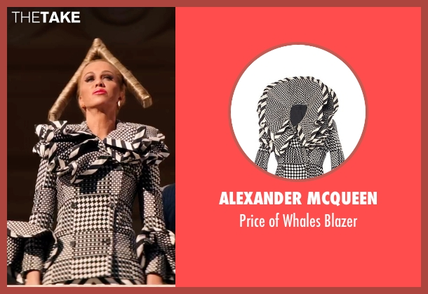 Alexander McQueen gray blazer from Zoolander 2 seen with Kristen Wiig (Alexanya Atoz)