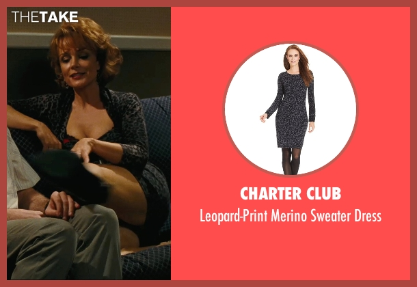 Charter Club black dress from Hall Pass seen with Kristin Carey (Aunt Meg)