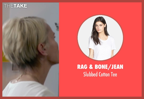 Rag & Bone/Jean white tee from The Boy Next Door seen with Kristin Chenoweth (Unknown Character)