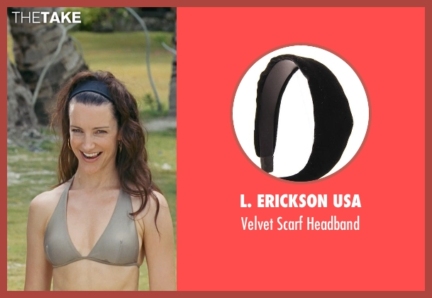 L. Erickson USA black headband from Couple's Retreat seen with Kristin Davis (Lucy)