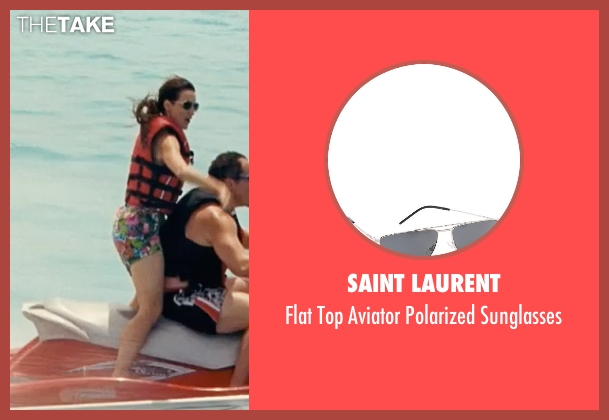 Saint Laurent black sunglasses from Couple's Retreat seen with Kristin Davis (Lucy)