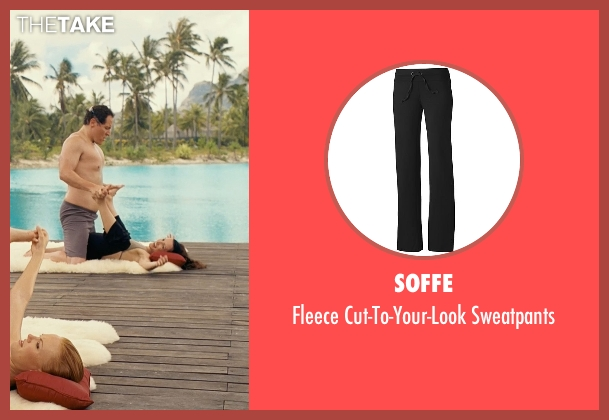 Soffe black sweatpants from Couple's Retreat seen with Kristin Davis (Lucy)