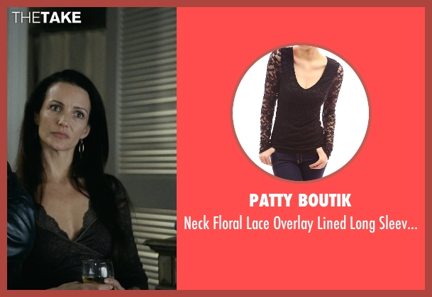 Patty Boutik black top from Couple's Retreat seen with Kristin Davis (Lucy)