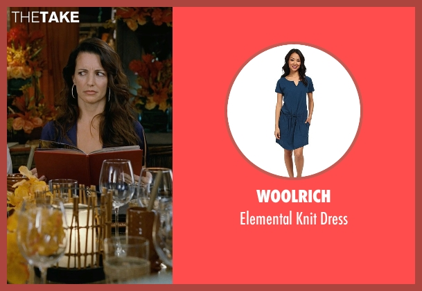 Woolrich blue dress from Couple's Retreat seen with Kristin Davis (Lucy)