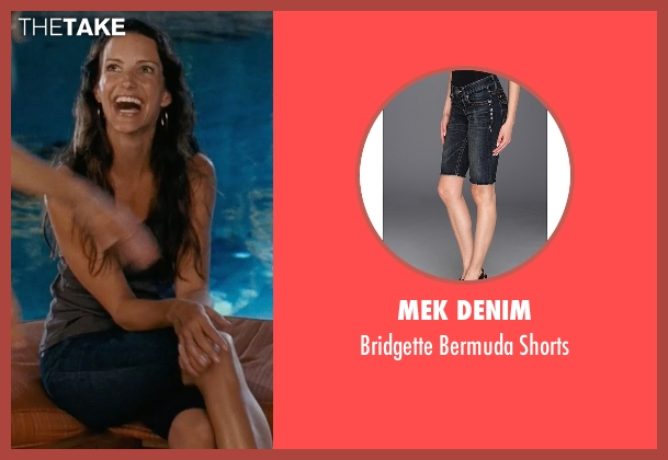 Mek Denim blue shorts from Couple's Retreat seen with Kristin Davis (Lucy)