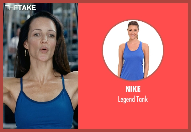 Nike blue tank from Couple's Retreat seen with Kristin Davis (Lucy)