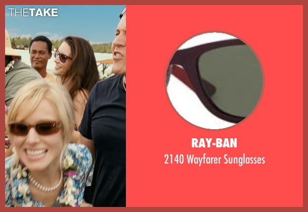 Ray-Ban brown sunglasses from Couple's Retreat seen with Kristin Davis (Lucy)