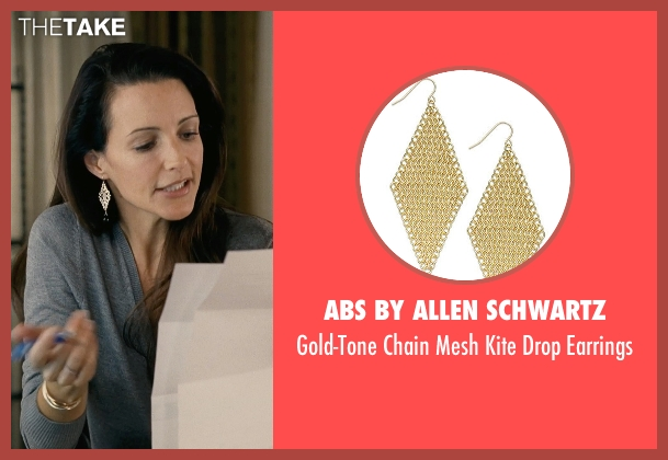 ABS by Allen Schwartz gold earrings from Couple's Retreat seen with Kristin Davis (Lucy)