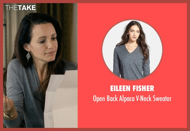 Eileen Fisher gray sweater from Couple's Retreat seen with Kristin Davis (Lucy)