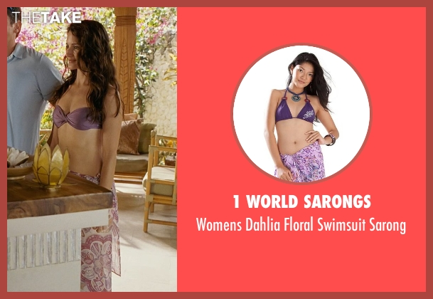 1 World Sarongs purple sarong from Couple's Retreat seen with Kristin Davis (Lucy)